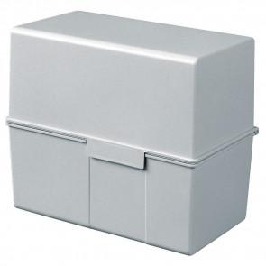Han Karteikartenbox DIN A7quer ungefüllt grau 977-11