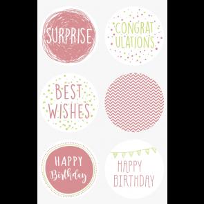 "Heyda Sticker ""Happy Birthday"" 10 x 19 cm Sticker Ø 4 cm"
