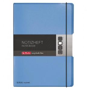 Herlitz my.book flex - Blau Notizheft kariert und liniert A4 2x 40 Blatt, gelocht mit Mikroperforation