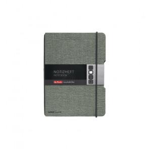 Herlitz my.book flex - Grau Leinenoptik Notizheft kariert A6 40 Blatt