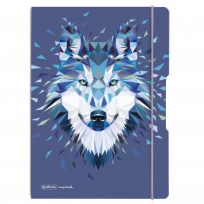 Herlitz my.book flex -Notizheft kariert und liniert A5 40 Blatt  Motive Wolf