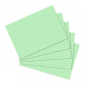 Herlitz Karteikarten DIN A6 100 St. kariert grün