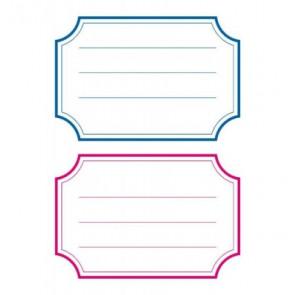 Herma Heftschild-Etiketten Unifarben rot/blau