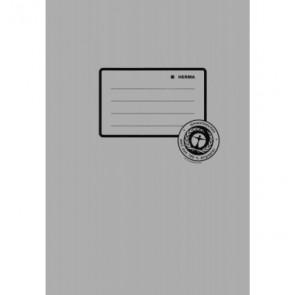 Herma Heftumschlag Papier Recycling A5 grau 5518 (Heftschoner)