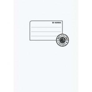Herma Heftumschlag Papier Recycling A5 Weiß 7054 (Heftschoner)