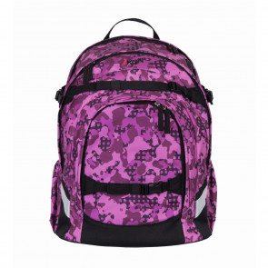 iKon Schulrucksack Purple Camouflage