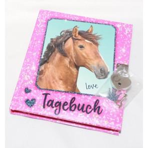 Horses Dreams Tagebuch pink