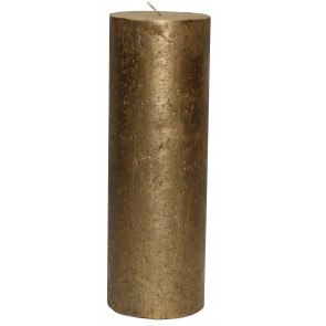 Rustikal Kerze gold Metallic Stumpenkerze 225 x 75mm