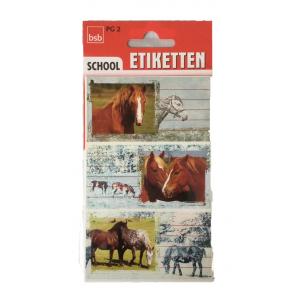 bsb Heftschild-Etiketten Pferde