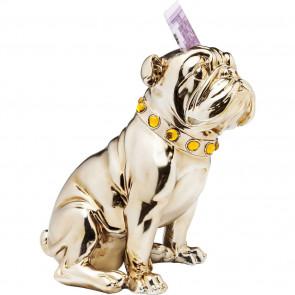 KARE Design Spardose Sitting Bulldogge Rosegold 26cm