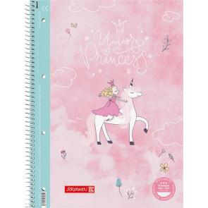 Brunnen Collegeblock Premium A4 kariert Unicorn Princess von vorne