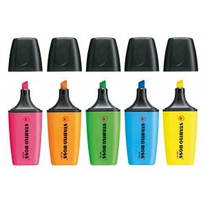 STABILO® BOSS® Mini Textmarker 5er Set