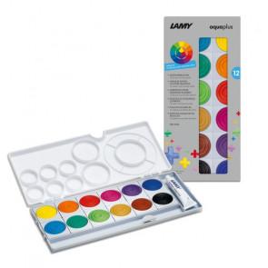 LAMY Deckfarbkasten Aquaplus 12 Farben mit Deckweiß