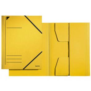 Leitz Sammelmappe Colorspan-Karton gelb DIN A4 mit Gummizug