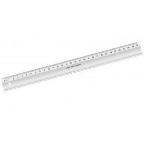 LINEX Schullineal 30 cm glasklar
