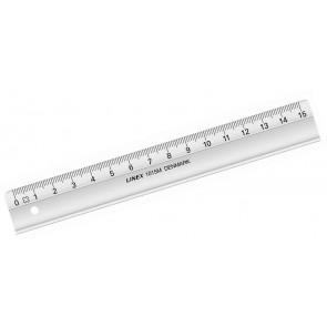 LINEX Schullineal 15 cm lang, 22 mm breit mit Tuschkante