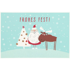 Medi Klappkarten Weihnachten X-MAS Dreams Frohes Fest    Depesche 8635