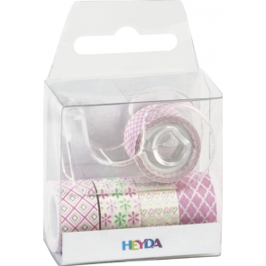 """Heyda Deko Tapes Mini """"Pastell"""" jede Rolle 3 m x 12 mm rosa"""