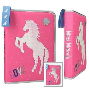 Miss Melody XXL Federmäppchen mit Pferd 1-Zipp Pink || Depesche 10604