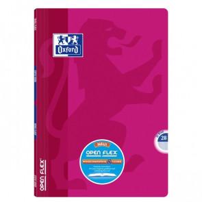 OXFORD Schulheft Openflex® DIN A4 Lineatur 28 rosa