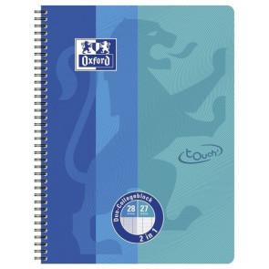 Oxford Collegeblock DUO Touch DIN A4+, 80 Blatt (Lineatur 28/27)