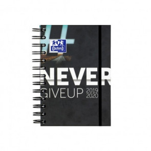 "OXFORD Schülerkalender ""Never Give Up"" 12x18 cm Tag pro Seite 160 Blatt"