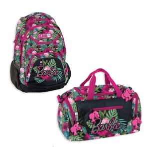 Paso Blumenmuster Barbie Bundle – Schulrucksack mit Sporttasche