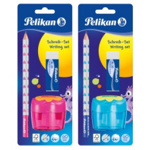 Pelikan Schreiblern-Starter-Set Combino in Pink oder Blau