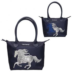 Miss Melody Handtasche mit Pferd und Streichpailletten Blau 10280 2/2018