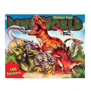 Dino Stickerfun, Malbuch mit Stickerbogen 10553