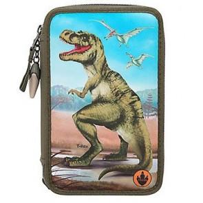 Dino World 3-fach Federmäppchen LED 10642