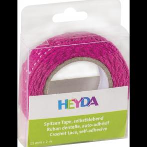 Heyda Spitzen Tape 2 m x 15 mm pink