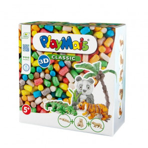 PlayMais® CLASSIC 3D Wild Animals Bauspielzeug Set