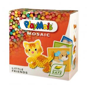 PlayMais® MOSAIC Little Friends Bauspielzeug Set Tiere Katze Hund