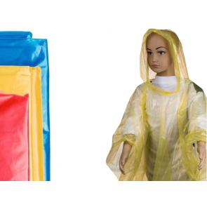 Kinder Regenponcho mit Kapuze