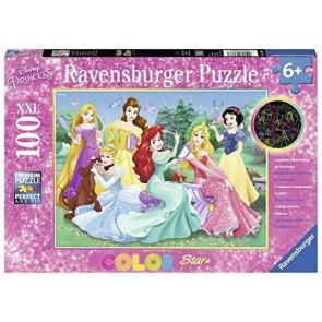 Puzzle Disney Prinzessinnen 100 Teile extra groß mit Leuchteffekt