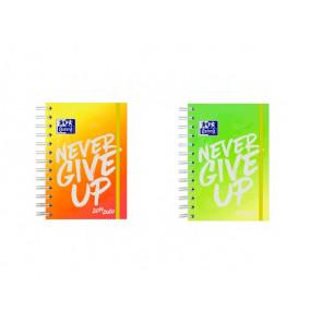 """OXFORD Schülerkalender """"Never Give Up"""" neon 12x18 cm Tag pro Seite 160 Blatt in verschiedenen Farben"""