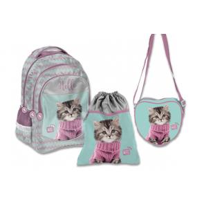 Paso Studio Pets Schulrucksack Set mit Turnbeutel und Schultertasche