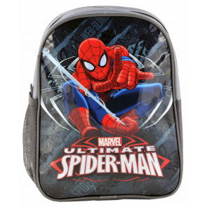 Spiderman Kindergartenrucksack grau mit zwei Fächern