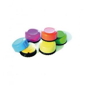 Läufer Schwammdose rund, farbig sortiert