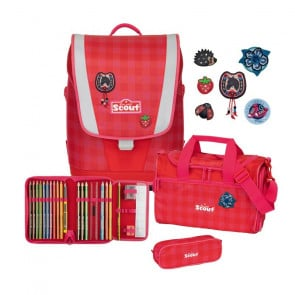 Scout Ultra Schulranzen-Set 4-teilig Motiv Red Gingham
