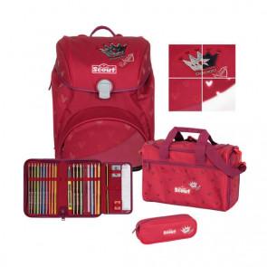 "Scout Alpha Premium Schulranzen-Set ""Red Princess"" 4-teilig"