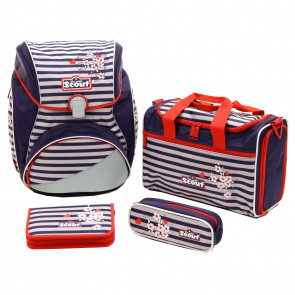 "Scout Alpha Schulranzen-Set 4-teilig ""Happy Stripes"""