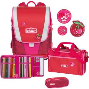 "Scout Ultra Schulranzen-Set Basic 4-teilig ""Cherry Red"""