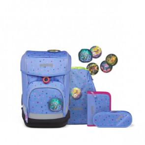 ergobag cubo light Schulranzen-Set Bärzaubernd blau