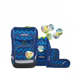 ergobag cubo light Schulranzen-Set FallrückziehBär blau