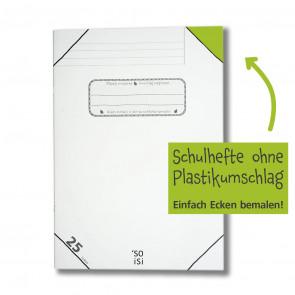 soisi Schulheft A4 Lineatur 25 liniert