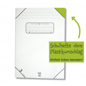 soisi Schulheft A4 Lineatur 3 liniert