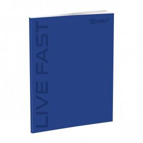 Spirit Schul Notizbuch DIN A4 liniert mit Softcover in blau