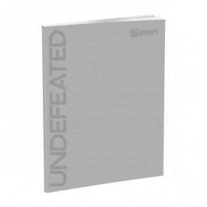 Spirit Schul Notizbuch DIN A4 liniert mit Softcover in grau